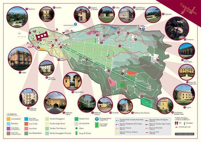 mappa completa museo e bosco di capodimonte