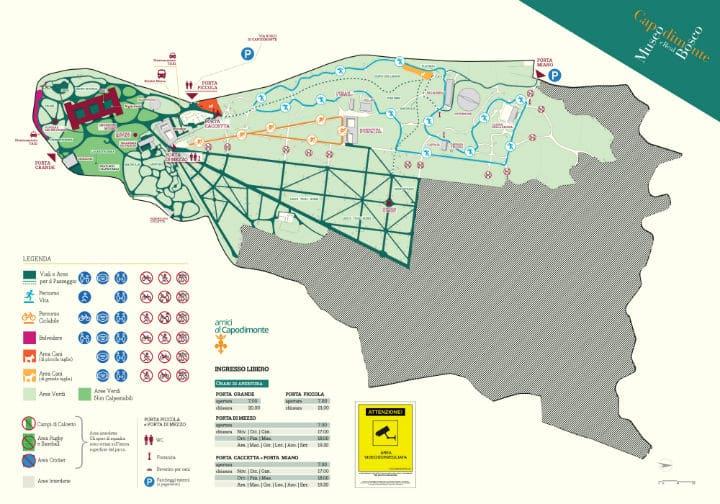 mappa bosco capodimonte