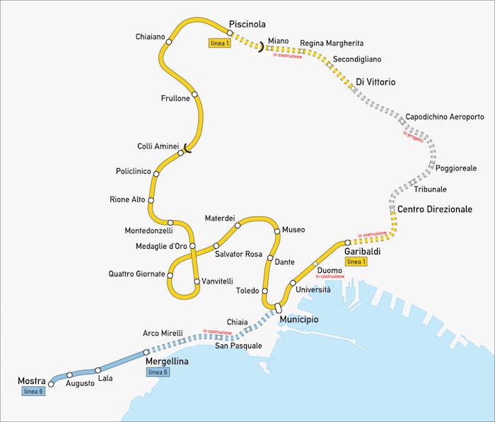 mappa stazioni metropolitana di napoli